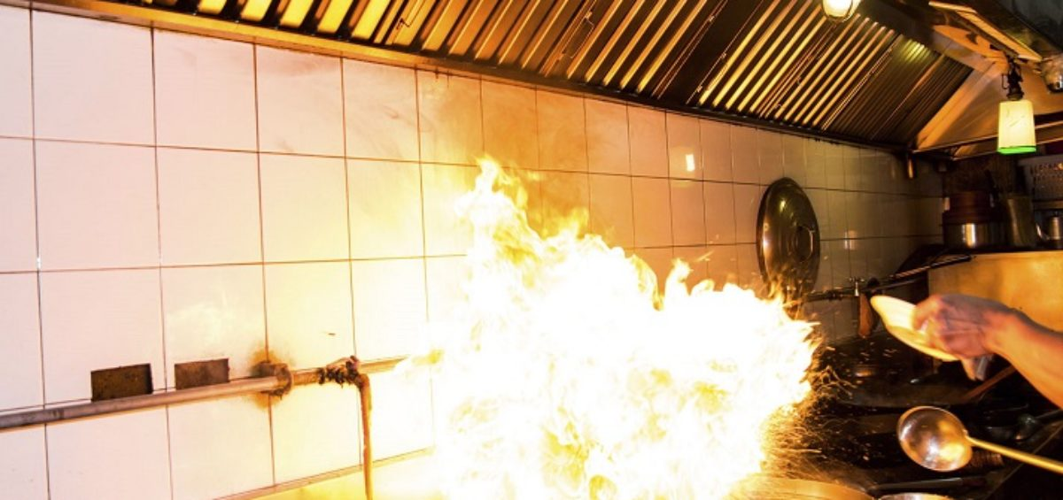 Fire risks in kitchens