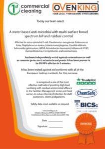 Coronavirus Fogging in Dorset - Our Certificate